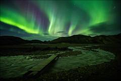 [ ... light my way ] (D-P Photography) Tags: autumn green night canon river dark stars landscape island iceland highlands september landschaft northernlights landmannalaugar nordlicht hochland feisol dpphotography iuriebelegurschi dennispolklser