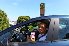 Stu @ Drive-Thru (Meteorry) Tags: portrait man france face car sunglasses restaurant europe stu july roadtrip mcdonalds drivethru signage driver peugeot homme goldenarches visage n4 refreshment heatwave chauffeur canicule 2015 frappé mcdrive champagneardenne stewartleiwakabessy meteorry laxou meurtheetmoselle nacny sapinière peugeot308 rn4 routenationale4 alsacechampagneardennelorraine alsacechampagneardennelorrain ruedelasapinière avenuedelaresistance