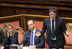 Il presidente Renzi e i ministri Madia e Alfano al Senato (Palazzochigi) Tags: palazzo marianna madia senato consiglioeuropeo madama matteorenzi angelinoalfano
