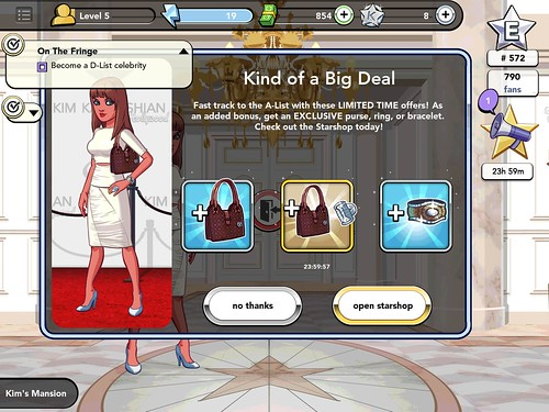 Kim Kardashian: Hollywood Deals & Promotions: screenshots, UI
