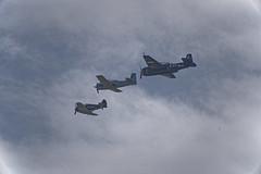 three up Tyabb airshow (lindsayholley) Tags: sky cloud war aircraft tail wing airshow guns bombs raaf pilot cannons tailplane tyabb aeroplanne 11ww