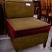Green fabric lounge chair