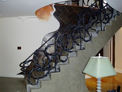 Gaudi inspired railing (forgearama) Tags: seaweed art iron steel gaudi blacksmith railing railings bannister wrought balustrades ironart metalart artmetal blacksmithing forgedsteel blustrade