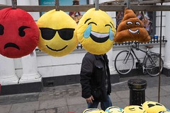 _DSF6284 (travelstreetmodel) Tags: street london streetphotography novelty emoticons cushions portobellomarket londonmarket londonstreetphotography portobellostreetmarket streetphotographylondon fuji23mm fujixt1