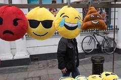 _DSF6284 (Dave Cavanagh Street) Tags: street london streetphotography novelty emoticons cushions portobellomarket londonmarket londonstreetphotography portobellostreetmarket streetphotographylondon fuji23mm fujixt1