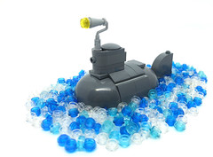Prepare to dive! (2 Much Caffeine) Tags: lego chibi submarine moc ironbuilder