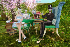 Full Tea Party by Explorer Destiny (Explorer Destiny in SL) Tags: secondlife madhatter teaparty aliceinwonderland whiterabbit higs tayrensfantasyfashions