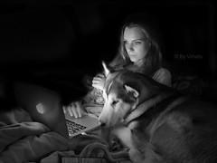 Eira & Nala (vimets ) Tags: dog pet girl perro malamute nordic mascota alaskan eira nordico
