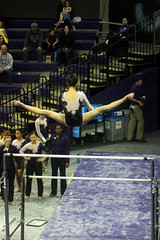 Hailey Burleson bars (3) (Susaluda) Tags: uw sports gold washington university purple huskies gymnastics dawgs
