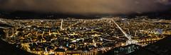 Grenoble Panoramic - City (f1ijp) Tags: street city sunset sky orange cloud black france alps yellow alpes canon landscape eos via ciel nuage paysage rue ville coucherdesoleil isre 600d f1ijp grenoblel