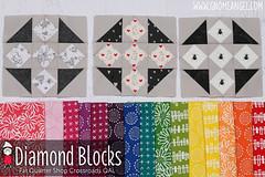 gnomeangel-fat-quarter-shop-crossroads-diamon-blocks (gnomeangel) Tags: modern quilt quilting patchwork tutorial fatquartershop fussycutting gnomeangel fussycuttersclub crossroardsquilt