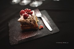Delicious Cake (vince_enzo) Tags: light white black cake canon eos 50mm yummy strawberries fork stm compleanno matte bona 6d panna fragole bontà lamponi cakeporn fruttidibosco