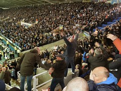 Palace fans at Reading (FA Cup 2016) (Paul-M-Wright) Tags: uk england cup reading march football europe crystal stadium soccer 11 palace round match fans friday sixth fa supporters versus 2016 cpfc madejski rg20fl