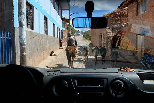 Driving streets of Maras in Peru-09 5-26-15