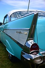 Chevy BelAir (Bubash) Tags: chevrolet love belair beautiful vintage emblem lights turquoise tail chevy collectible fins blinker