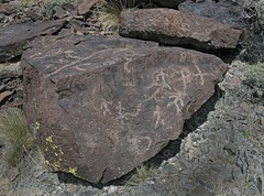Petroglyphs / Blackrock Well Site (Ron Wolf) Tags: california archaeology nationalpark nativeamerican petroglyph anthropology shoshone rockart deathvalleynationalpark anthropomorph anthromorph numic meanderingline perpendicularlines