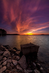 Beautiful Day's End (John Cothron) Tags: longexposure winter sunset sky usa cloud sun cold color reflection nature digital georgia landscape us unitedstatesofamerica scenic lakeshore thesouth dixie 15mm eveninglight lakelanier carlzeiss federalpark hallcounty americansouth flowerybranch southernregion 35mmformat oldfederalpark johncothron canoneos5dmkii southatlanticstates leefiltersystem cothronphotography 3stopneutraldensityfilter 3stopreversegraduatedfilter lee90nd singhray9reversegrad zeissdistagont2815mmze ©johncothron img13296160316 beautifuldaysend