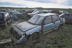 DSC_9794 (srblythe) Tags: uk classic cars ford abandoned graveyard car austin volkswagen scotland volvo rust fiat decay north rusty british scrapyard hyundai leyland vauxhall volvograveyard