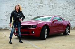 Marynell Hardin (Studio d'Xavier) Tags: portrait rockstar camaro rockroll gibsonexplorer marynellhardin