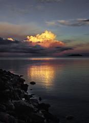 lighthouse clouds2 copy (dovlindphoto) Tags: sunset sea sky lake reflection nature water clouds landscape sundown pentax sweden ml dovlind dovlindphoto
