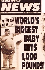 """Big News of 1997 - World's Biggest Baby Hits 1000 Pounds / """"Hillary has a cow"""" (ramalama_22) Tags: world china boy baby news sex naked cow photo child clinton fat belly monica cover hillary lard 1997 weekly scandal faked obese bulk festoon ohoto lewinsky"""