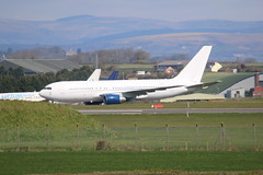 ZS-DJI hazy shot. (aitch tee) Tags: southwales aircraft parked boeing airliner b767 stathan zsdji