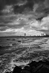 Stormy Perch Rock 2 (another_scotsman) Tags: blackandwhite lighthouse seascape monochrome river stormy mersey newbrighton perchrock