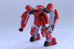 The Red Menace (BigDamnHero2511) Tags: lego robots mecha moc microscale miniscale minirobot