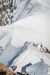 (Maya Lucchitta) Tags: snow france mountains alps chamonix montblanc paragliders skiers aiguilledumidi