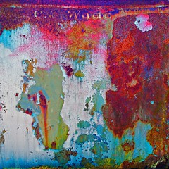 C.O. Wado (StephenReed) Tags: abstract art metal square rust paint abstractart chippedpaint stephenreed nikond3300 cowado