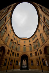 Tried to keep you close to me (AndreaMarchetti ) Tags: city sky architecture circle lookup ferrara d800