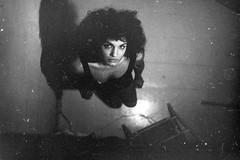 ... (Marlena F.) Tags: city portrait blackandwhite woman berlin film beautiful beauty analog photography eyes women faces minolta curls portrt oldschool charlottenburg analogical filmlove