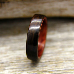 Ziricote and Bubinga (stoutwoodworks) Tags: wood wedding water one wooden engagement natural bend handmade grain band craft jewelry steam ring kind rings strong handcrafted steamed bent alternative lining stout 5mm ecofriendly lined durable woodworks bentwood bubinga ziricote