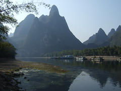 Embarcadre sur la rivire Li (cristoflenoir) Tags: china tourism guilin karst tourisme bteau