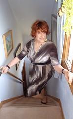 It Is Always A Pleasure To Meet An Old Friend . . . (Laurette Victoria) Tags: woman female necklace dress redhead laurette