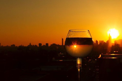 #photooftheday #wine #sunset #starburst #flare #reflection #refraction #cityscapes #tgif