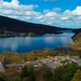Spring sunshine over padarn lake.