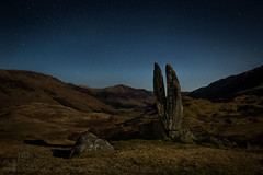 Moon Rock (GenerationX) Tags: sky mountains rock stars landscape scotland unitedkingdom perthshire scottish neil calm gb moonlight clearsky barr cleft glenlyon canon6d camusvrachan valleyofthesungod prayinghandsofmary fionnsrock