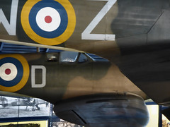 The Spitfire and Hurricane (Steve Taylor (Photography)) Tags: uk greatbritain england london texture museum plane circle wings fighter display unitedkingdom aircraft military hurricane cockpit science aeroplane ring round gb ww2 bullseye british decal mk raf hawker dunkirk worldwar2 roundel worldwartwo battleofbritain singleseat royalairforce glosterwhittle