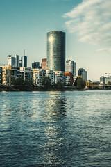 Westhafen Tower (Fenchel & Janisch) Tags: sunset sonnenuntergang frankfurt westhafen frankfurtammain