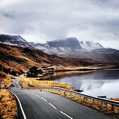The long and winding road. #scotland #scottishhighlands #roadtrips #uk #studentlife (tulsiflex) Tags: road uk mountains water downs scotland spring highlands roadtrips traveller ups turns studentlife endless scottishhighlands snowcappedmountain