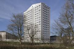 Milton Court, Airdrie, Scotland (SpaceLightOrder) Tags: scotland modernism highrise towerblock camus multistorey airdrie lanarkshire reclad northlanarkshire miltoncourt prefabrication precastpanels