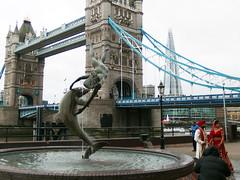 By Tower Bridge (Phil Masters) Tags: wedding sculpture london towerbridge dolphin diver shard multiculturalism towerbridgelondon 5thdecember theshard theshardlondon december2015