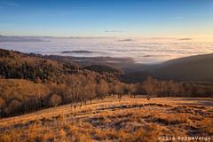 Morning fog (beppeverge) Tags: mist alps fog clouds sunrise landscape dawn alba alpi mottarone seeofclouds beppeverge newyear2016 capodanno2016