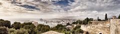Mlaga (Jose Peral Merino) Tags: sky landscape puerto andaluca cielo nubes mlaga panormica castillodegibralfaro