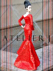 (marcelojacob) Tags: cinematic starlet qsmlf red marcelojacob atelierj elisejolie fashionroyalty siren sequin