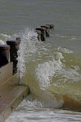 Wave Break 2 (mark f2.9) Tags: sea beach wave groyne defence hillhead