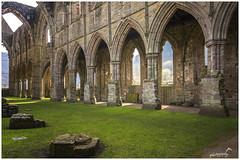 Tintern Abbey (Welsh: Abaty Tyndyrn) (Sharon Dow Photography) Tags: old uk holiday history church beautiful abbey grass wales architecture trekking walking landscape nikon scenery worship view britain hiking stones bricks ngc columns monk arches historic attractive walls welsh tinternabbey tintern roofless riverwye monmouthshire 2016 monasteries cistercianmonks abatytyndyrn whitemonks walterdeclare nikond7100 sharondowphotography april2016 lordofchepstow