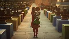 Siblings - Kolar, India (Kartik Kumar S) Tags: india love kids sisters children temple shiva karnataka kolar linga kotilingeshwara