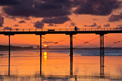 The sun goes down. (paul downing) Tags: sunset reflections pier nikon northsea 12 filters hitech northyorkshire redcar gnd saltburnbythesea pd1001 pauldowning d7200 pauldowningphotography